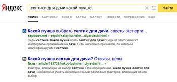Ранжирование статей Яндексом
